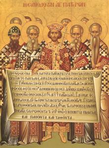 Icoana cu Sfintii Parinti marturisind Crezul de la Niceea